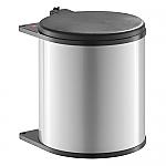 Hailo Big Box afvalemmer 15 liter zilvergrijs/zwart 371521