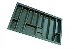 Bestekindeling 49x84 cm Linea voor lades van 900 mm kleur Antraciet