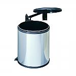 Hailo Big Box afvalemmer 15 liter rvs/donkerbruin 371510