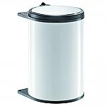 Hailo Big Box afvalemmer 20 liter wit/donkerbruin 372000