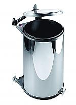 Hailo Big Box afvalemmer 20 liter rvs/donkerbruin 372010