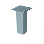 Bladsteun vierkant recht model RVS look