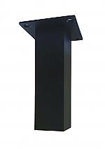 Bladsteun vierkant 5x5cm matzwart