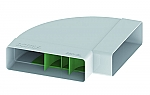 Domus Luchtafvoer 550 High Efficiency Bocht 90 Graden kleur Wit