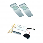 Dotty LED set van 2 onderbouw spots met dimmer 12V RVS