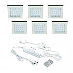 Hera EQ-Wi LED set van 6 inbouw spots met dimmer 24V/15W RVS look