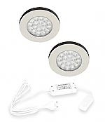 Hera ER-WI LED set van 2 inbouw spots 24V/15W RVS-look