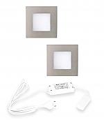 Hera FQ-68 LED set van 2 inbouw spots 24V/15W RVS-look