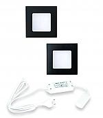 Hera FQ-68 LED set van 2 spots 24V zwart
