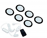 Hera FR-55 Dynamic LED set van 6 spots met kleur/dimcontroller met afstandsbediening 24V zwart