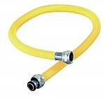 Aansluitmateriaal RVS gasslang 600mm geel gastec