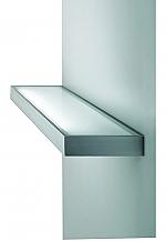 Hera LED Wandmontage Glasschap 600 mm kleur Rvs-Look/Glas