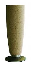 Tafelpoot Mini rond hoogte 195-210mm kleur Beuken