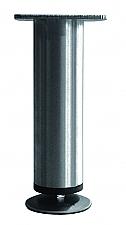 Tafelpoot Mini rond hoogte 145 - 165 mm kleur Rvs