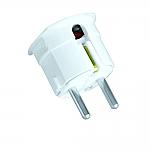 TL verlichting Randaarde-stekker - haaks  kleur Wit