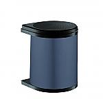 Hailo Mono afvalemmer 15 liter donkergrijs/zwart 351500