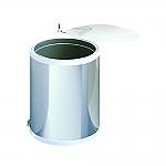 Hailo Mono afvalemmer 15 liter rvs/wit 351501