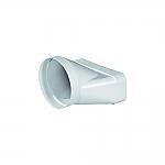 Luchtafvoer HR+ 150 Overgangstuk - Recht kleur Wit