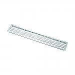 Luchtafvoer Aluminium Plintrooster 50x8cm kleur Rvs-Look