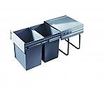Hailo Space Save Tandem afvalsysteem 40 liter grijs 364122