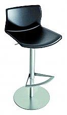 Lapalma Barkruk Kai kleur Mat Chroom/Zwart Leder