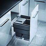 Hailo AS Cargo Synchro afvalsysteem front 44 liter grijs AE360853