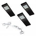 Dotty LED set van 3 langwerpige spots met schakelaar onderbouw 12V/15W zwart