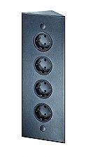 Evoline Energie-hoekzuil 4ST 320 stopcontact zwart