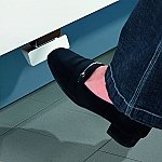 Hailo Afvalsysteem Kick & Go Voetpedaal Euro-Cargo kleur Alu tbv 363310/366310/361430