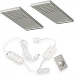 Hera L-Pad Dynamic LED set van 2 onderbouw spots RVS-look