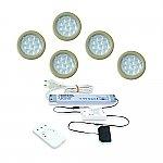 LED Inbouw set Nova Plus Emotion 5 Spots kleur Rvs-Look