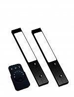 Rettangolo Emotion LED set van 2 spots met kleur/dim-controller met afstandsbediening 12V zwart