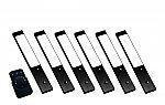 Rettangolo emotion LED set van 6 spots met kleur/dim-controller met afstandsbediening 12V zwart