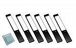 Rettangolo Emotion LED set van 6 spots met emotion kleur / dim wandschakelaar 12 V zwart