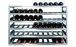 Wijnrek Vrijstaand wijnrek basismodule voor 6 wijnflessen kleur Rvs