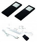 Hera Slim-Pad-F LED set van 2 spots met dimmer 24V zwart