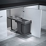 Hailo Solo Automatic afvalsysteem 20 liter grijs/zilver 3636001