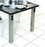Tafelpoot 70 met contactdoos en USB lader. Hoogte 720-730mm kleur Rvs-Look