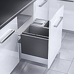Hailo Triple XL afvalsysteem 54 liter (3x18) grijs 363169