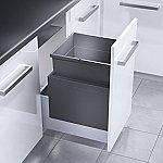 Hailo Triple XL Front afvalsysteem 55 liter donker grijs