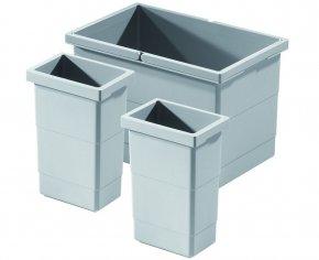 Hailo Separato afvalemmer 2x2,5+14 liter grijs