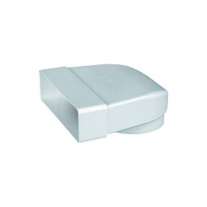 Domus Luchtafvoer 441 Bocht 90 Graden +Aansluitstuk kleur Wit