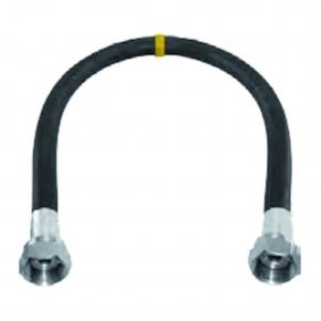 Aansluitmateriaal rubber gasslang met koppelingen 1000 mm gastec