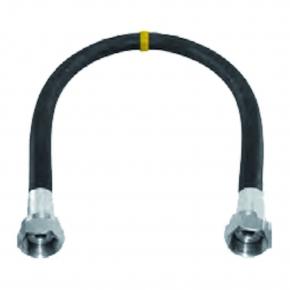 Aansluitmateriaal rubber gasslang met koppelingen 1250mm gastec