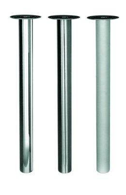 Tafelpoot Cento dun hoogte 720 - 740 mm kleur Rvs-Look