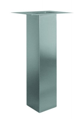 Tafelpoot Maxi hoogte 710 - 730 mm kleur Rvs