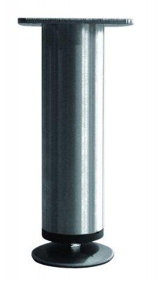 Tafelpoot Mini rond hoogte 195 - 215 mm kleur Rvs