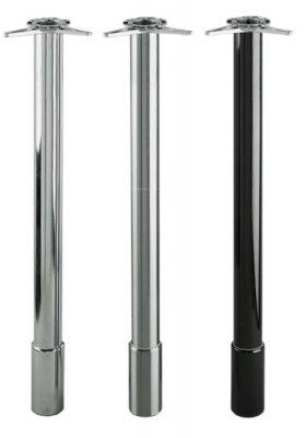 Tafelpoot Deluxe hoogte 805 - 905 mm kleur Chroom