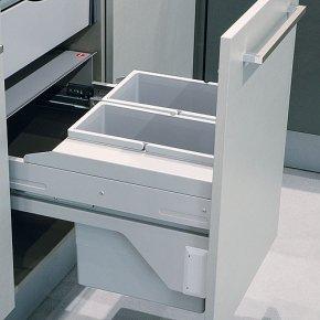 Hailo Euro Cargo Soft Short Front afvalemmer 28 liter grijs