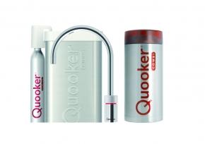 Quooker Cube Nordic single tap round RVS met Combi reservoir